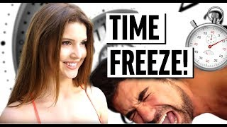IF I COULD FREEZE TIME! | Amanda Cerny, King Bach, & Alissa Violet | Funny Sketch Videos 2018 thumbnail