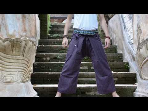 How To Wear Thai Fisherman Pants New Style Tie [Full HD]