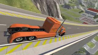 Разбиваем машинки в BeamNG.Drive! Мультик про машинки. Машины прыгают с горы и разбиваются