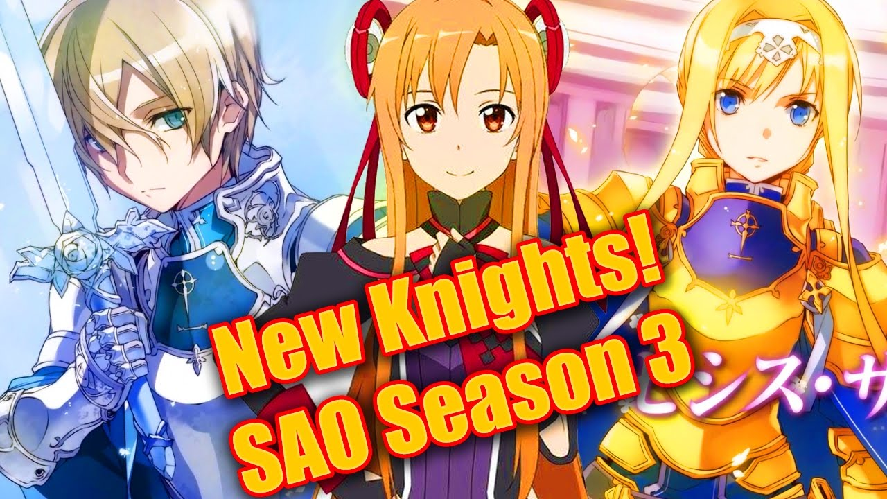 Sword Art Online Season 3 New Characters Alice Eugeo Knights Alicization SAO