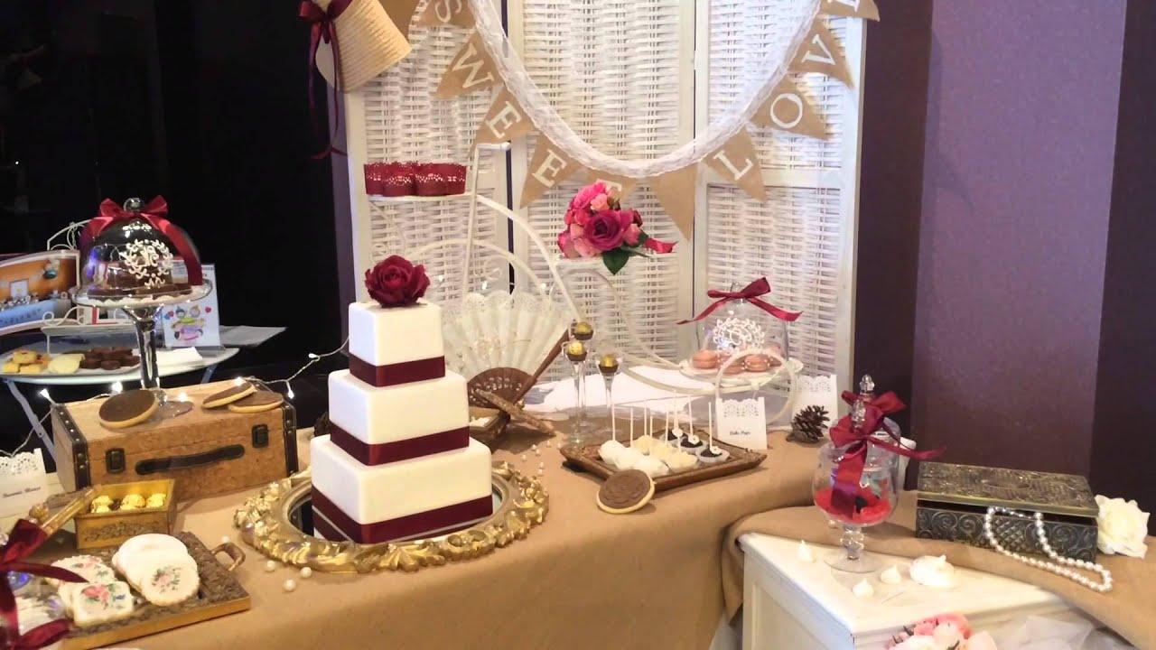 Mesa dulce vintage youtube for Mesas de dulces para bodas precios