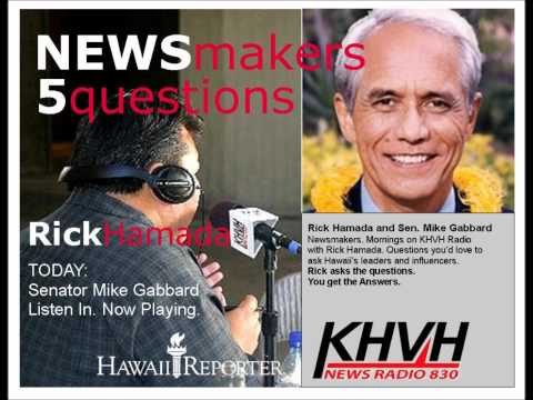 """5 Questions with NEWSmaker Senator Mike Gabbard"""