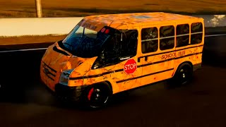 Forza 5 - School Bus Shenanigans (Ford Transit Van)