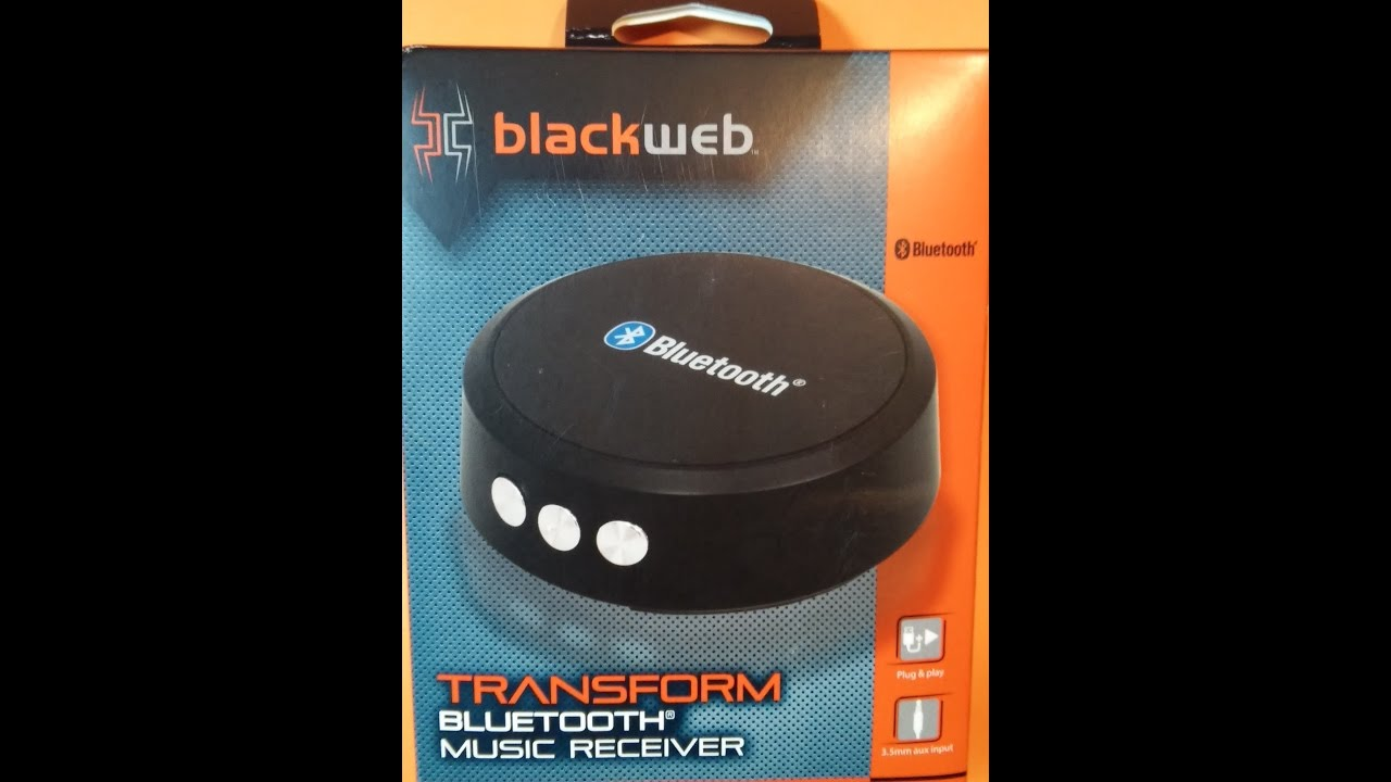 BLACKWEB Bluetooth Music Receiver Set up and REVIEW