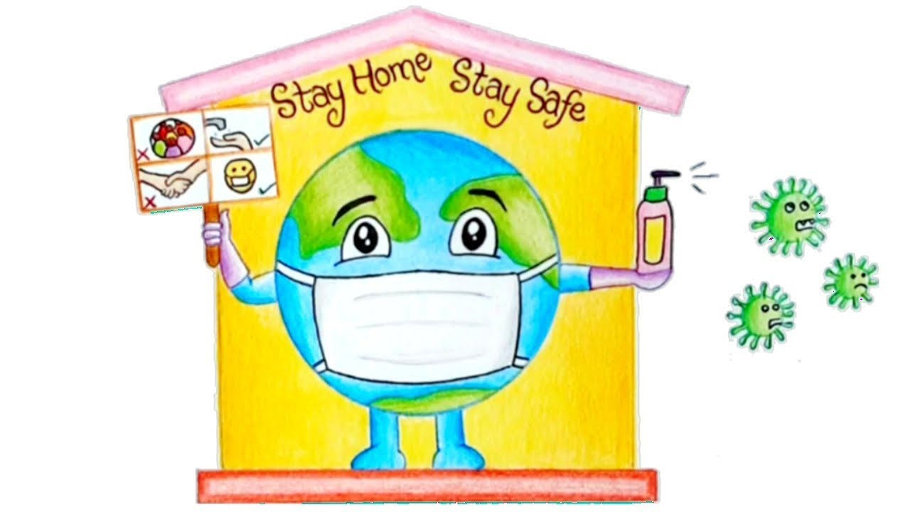 Coronavirus Drawing/Stay Home Stay Safe - YouTube