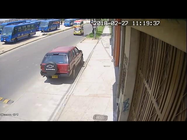 Accidente de tránsito SITP Bogotá