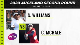 Serena Williams vs. Christina McHale | 2020 Auckland Second Round | WTA Highlights