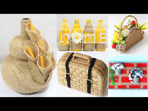 5 Jute craft ideas | Home decorating ideas handmade | #2