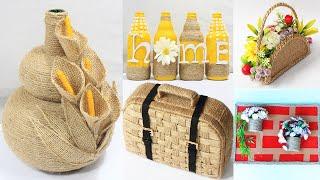 5 Jute craft ideas | Home decorating ideas handmade | #2