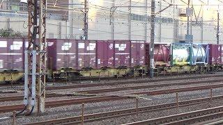 【JR貨物】コキ110 5両連結の71レ