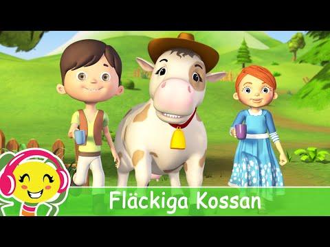Flckig Kossa  Svenska Barnsnger – BarnMusikTV – Cantece pentru copii in limba suedeza