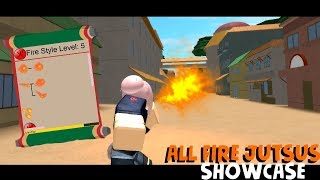 Roblox The Ninja way | All fire jutus showcase/review