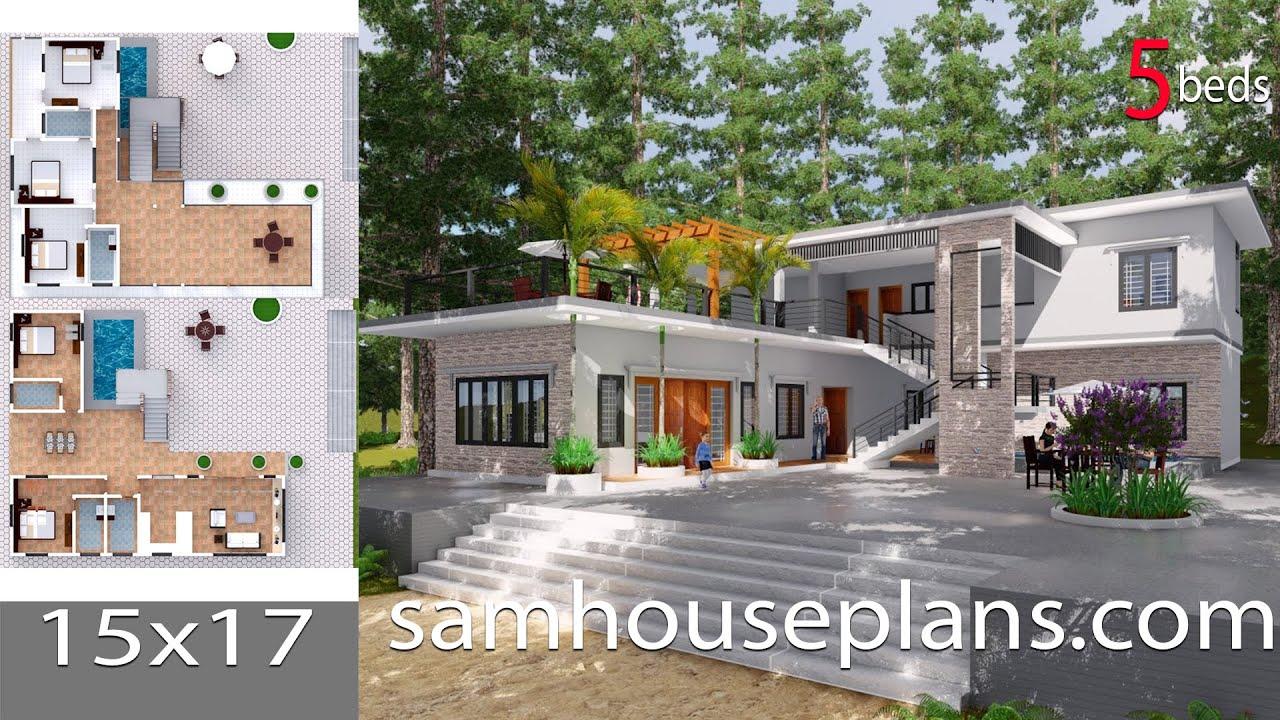 Sketchup model modern villa design 15 lumion render for Model villa moderne