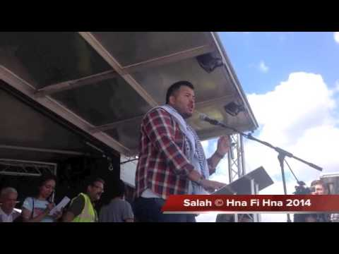 National union of  students spokesman     at the mass rally for Gaza in Hyde Park, London 09 08 2014
