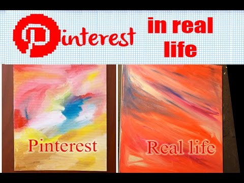 DIY Easy Abstract Wall Art- Pinterest in Real Life - YouTube
