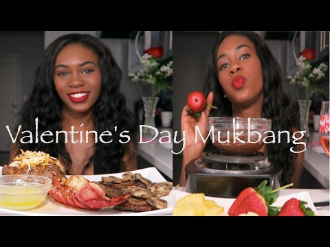 VALENTINE'S DAY SPECIAL MUKBANG (EATING SHOW)