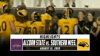 Alcorn State vs. Southern Miss Football Highlights (2019) | Stadium