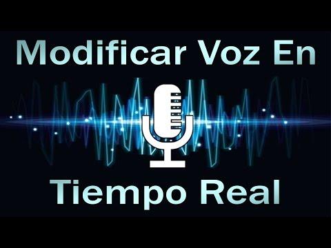 Modificar La Voz Y Aplicar Efectos En Tiempo Real