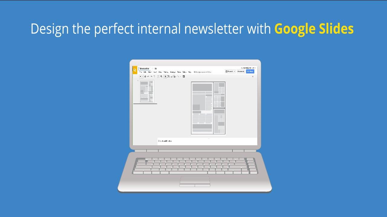 Design a newsletter in google slides youtube for Table design google slides