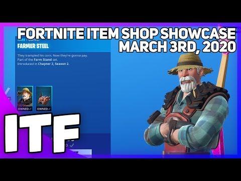 Fortnite Item Shop *NEW* FARM STAND SET [March 3rd, 2020] (Fortnite Battle Royale)