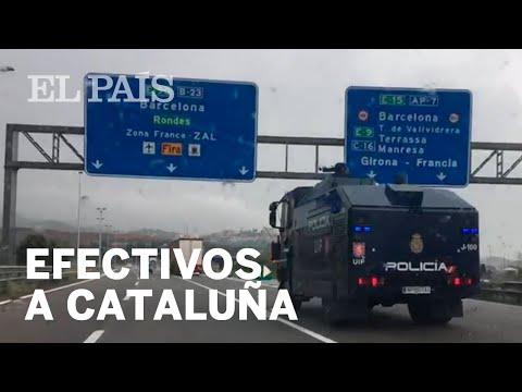 Los camiones policiales van hacia Cataluña | España