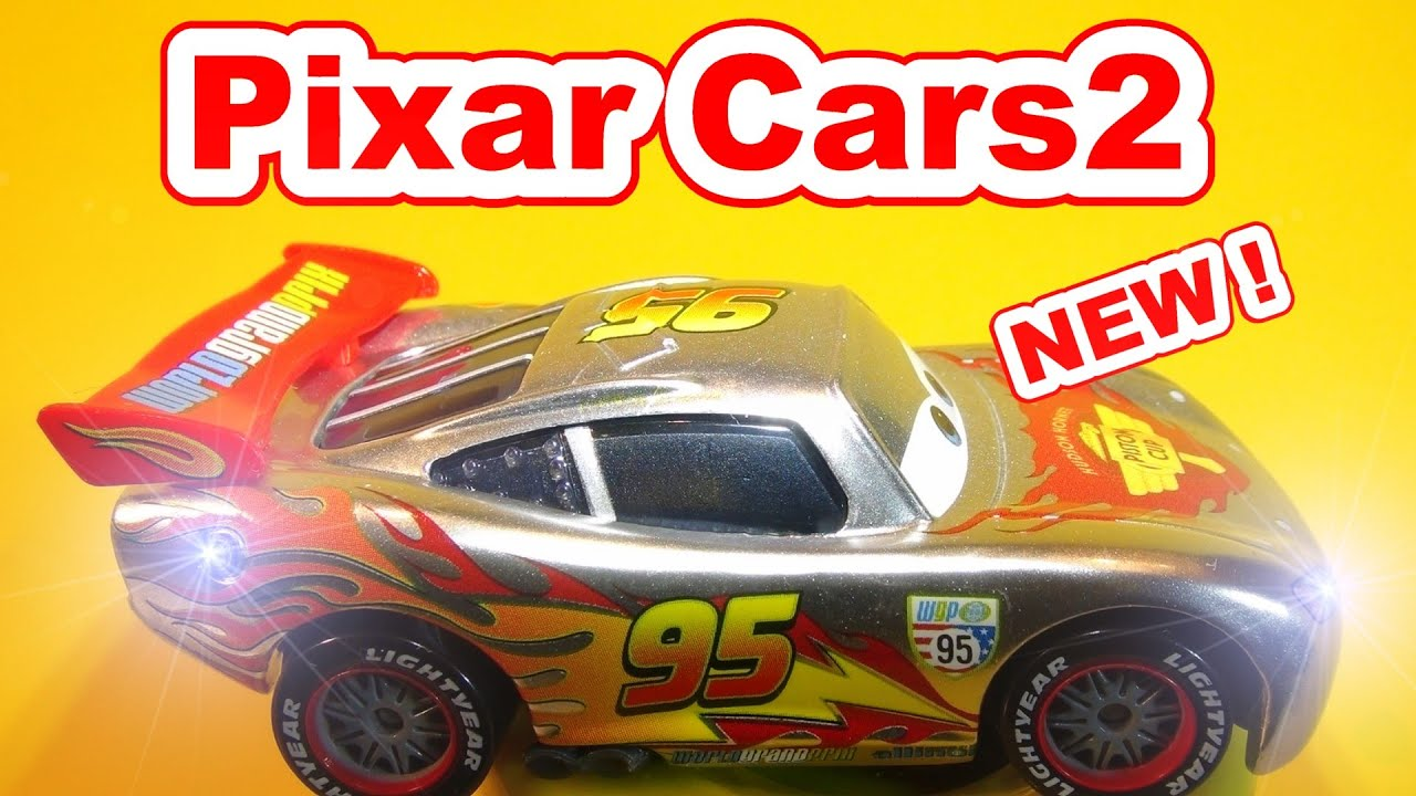 disney pixar cars unboxing new silver lightning mcqueen with cars