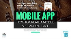 How to Create a Mobile App Landing Page