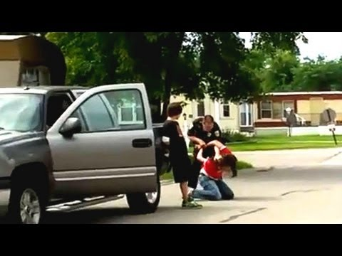 Police brutality? Washington Township cop roughs up Toledo, Ohio, family (video)