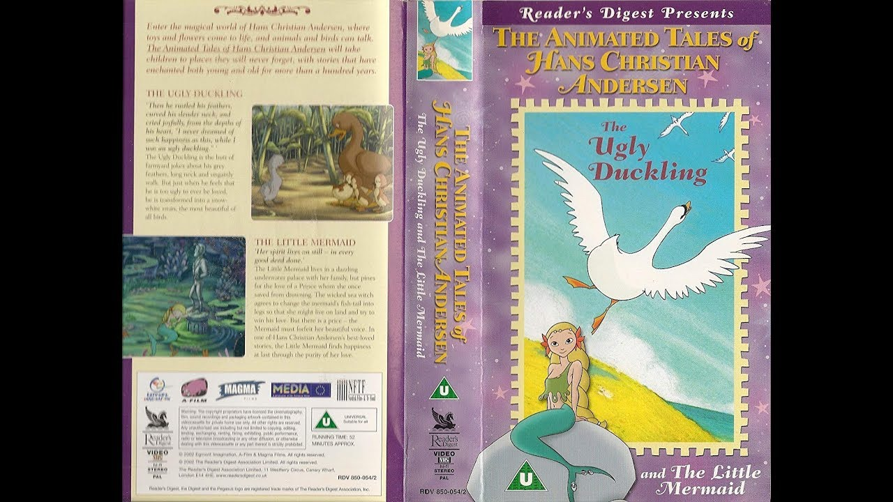 Download Original VHS Opening: Hans Christian Andersen - The Ugly Duckling  / Little Mermaid (UK Retail Tape)