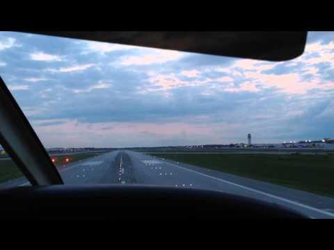 Visual Approach Runway 28L Port Columbus International Airport