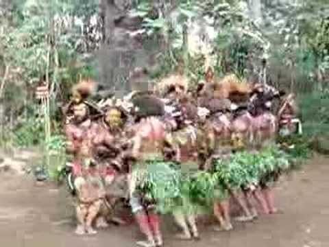 Papua New Guinea Huli wigman dance, August 2007