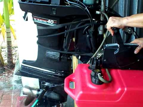 Mercury Outboard Motor Wiring Harness Mercury 40 Hp Oil Injected Youtube