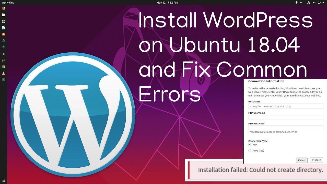 how to install WordPress in Ubuntu 1804 or 1904