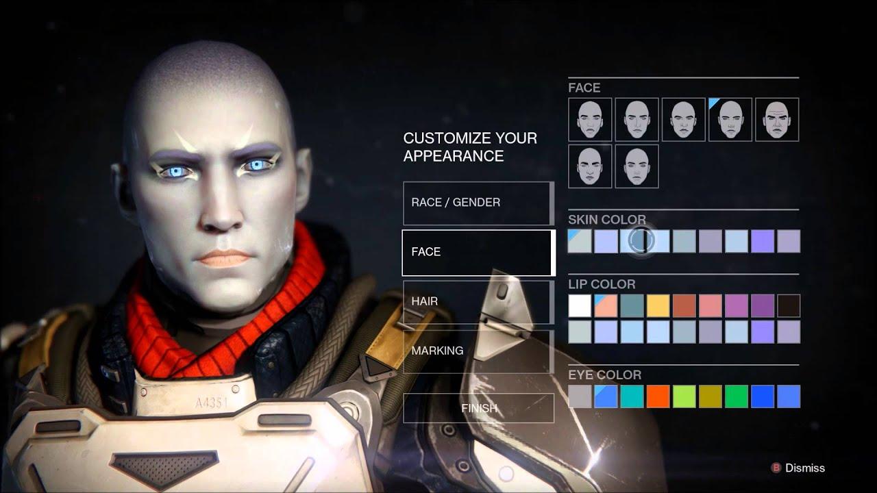 Destiny character creation - Titan Awoken Male - YouTube