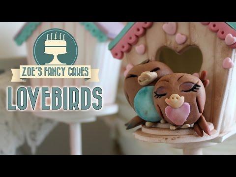 Lovebirds cake topper for Valentines day