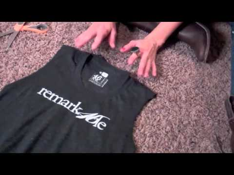How to distress t shirts and make your mark youtube for How to make a distressed shirt