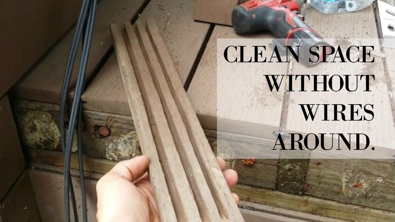 A Tip For Hiding Wires In An Outdoor Wood Deck Lucky 7 Landscapes