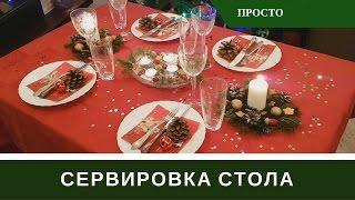 видео Сервировка стола на Новый Год