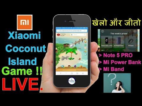Xiaomi India | खेलो और जीतो Redmi Note 5 pro | Xiaomi coconut game, Coconut island game, Kapchalife