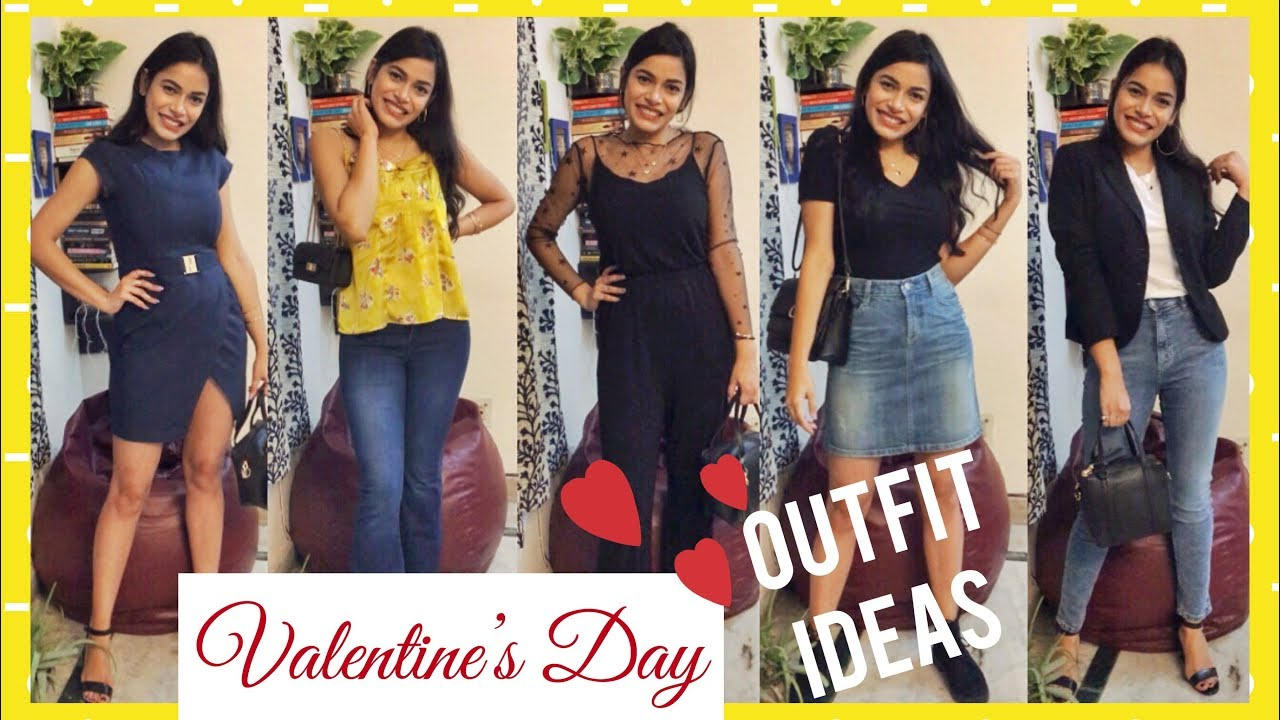 5 VALENTINE'S DAY Outfit Ideas | Date Night Outfits | How to Style | Valentine's Day Lookbook 2019 1