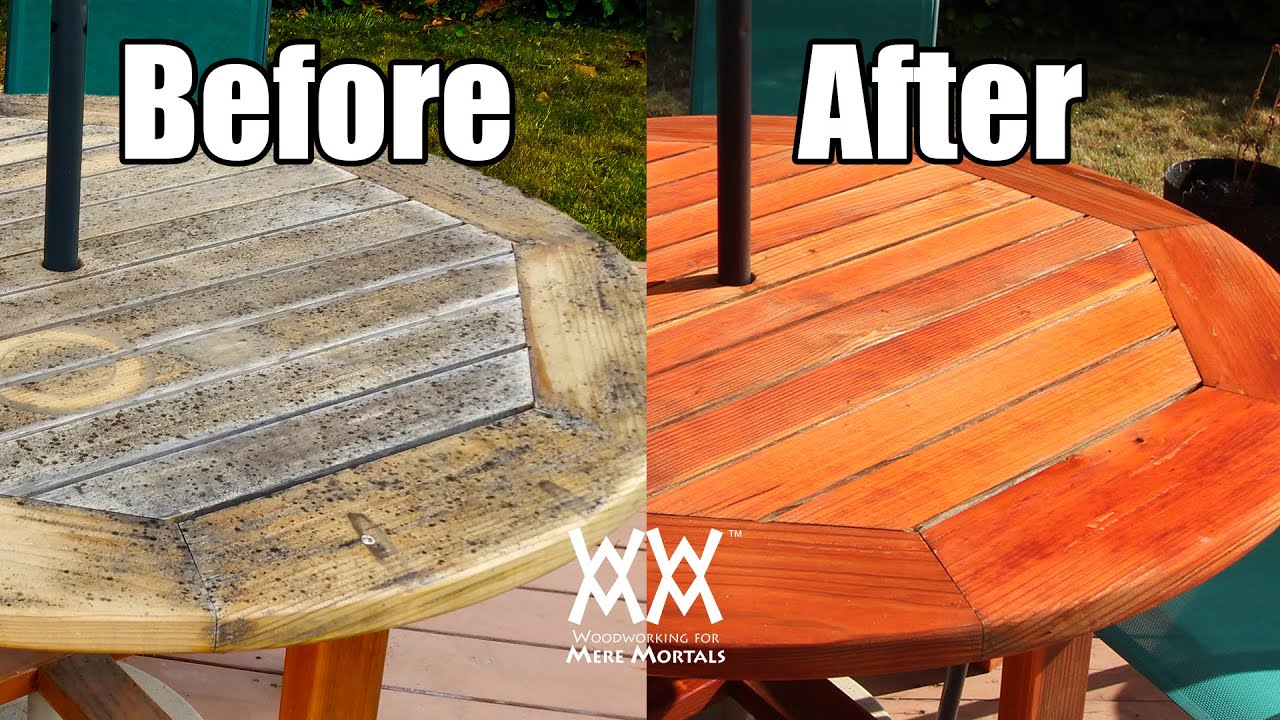 Are Outdoor Finishes Useless Refinishing My Patio Table