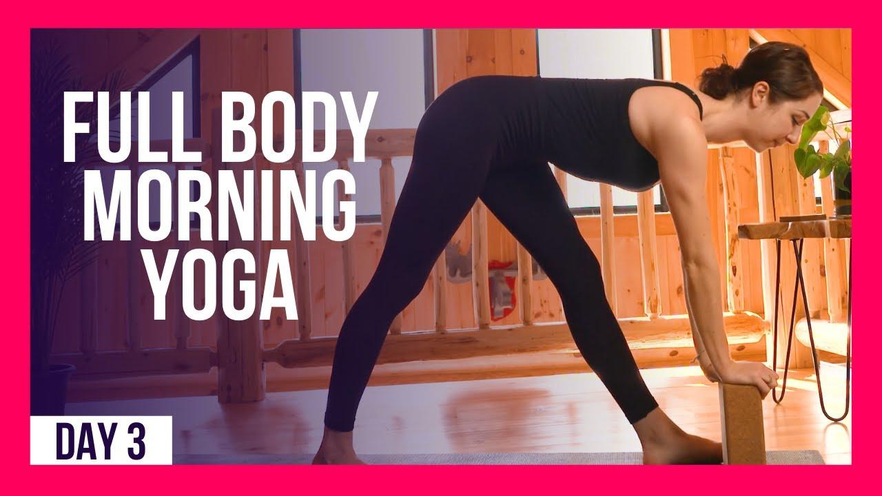 10 min Morning Yoga Stretches – Day #3 (10 MIN FULL BODY YOGA)