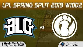 BLG vs IG Highlights Game 2 LPL Spring 2019 W10D2 Bilibili Gaming vs Invictus Gaming LPL Highlights