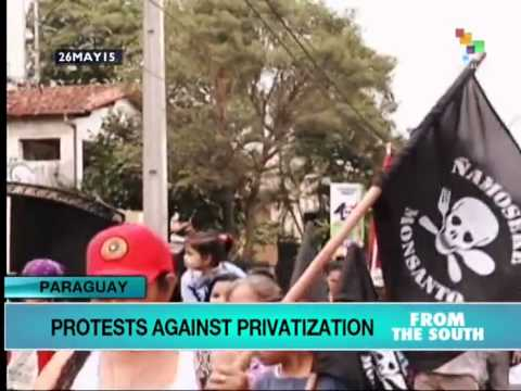 Anti-Privatization Protests Sweep Paraguay