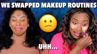 WE SWAPPED OUR EVERYDAY MAKEUP ROUTINES