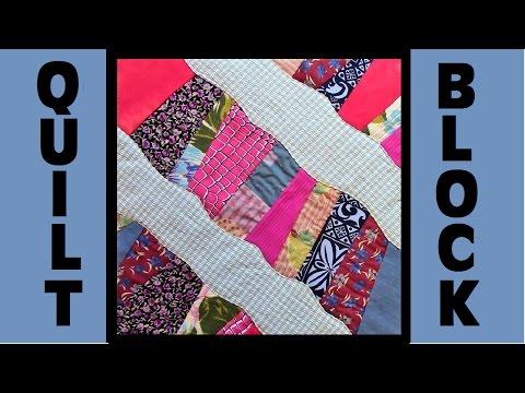 Quilt Block Party - Block 17: Crazy Curves - Crazy Quilt Block Tutorial