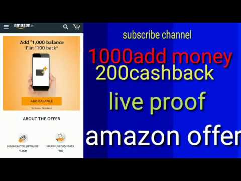 amazon200cashback for add money offer. Live proof. Fact mind channel.