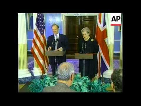 USA: BRITISH FOREIGN SECRETARY COOK MEETS ALBRIGHT