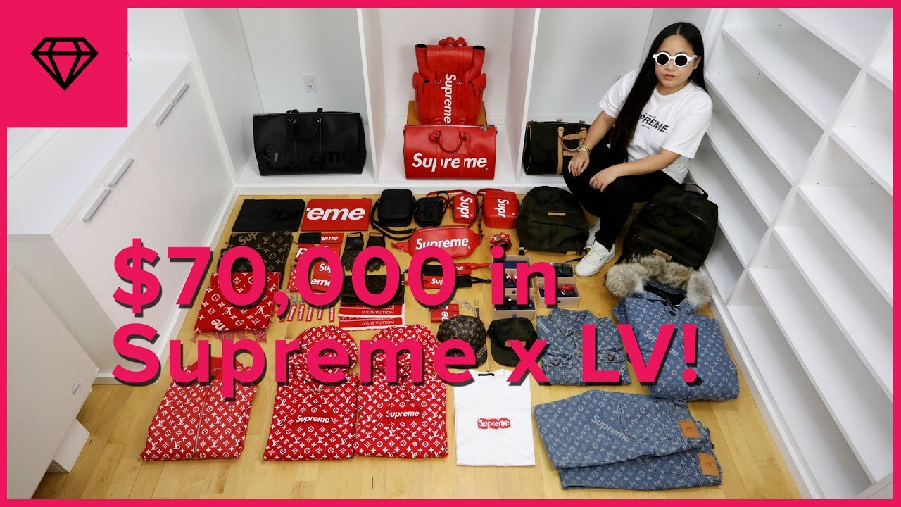 Unboxing 70 000 Worth Of Supreme X Louis Vuitton Nitro Licious