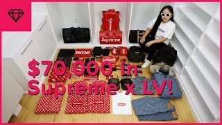 Unboxing $70,000 Worth of Supreme x Louis Vuitton!!! | nitro:licious